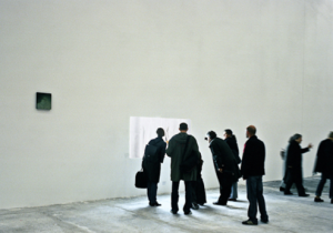 die lichtung / the clearing / view from outside with white cube