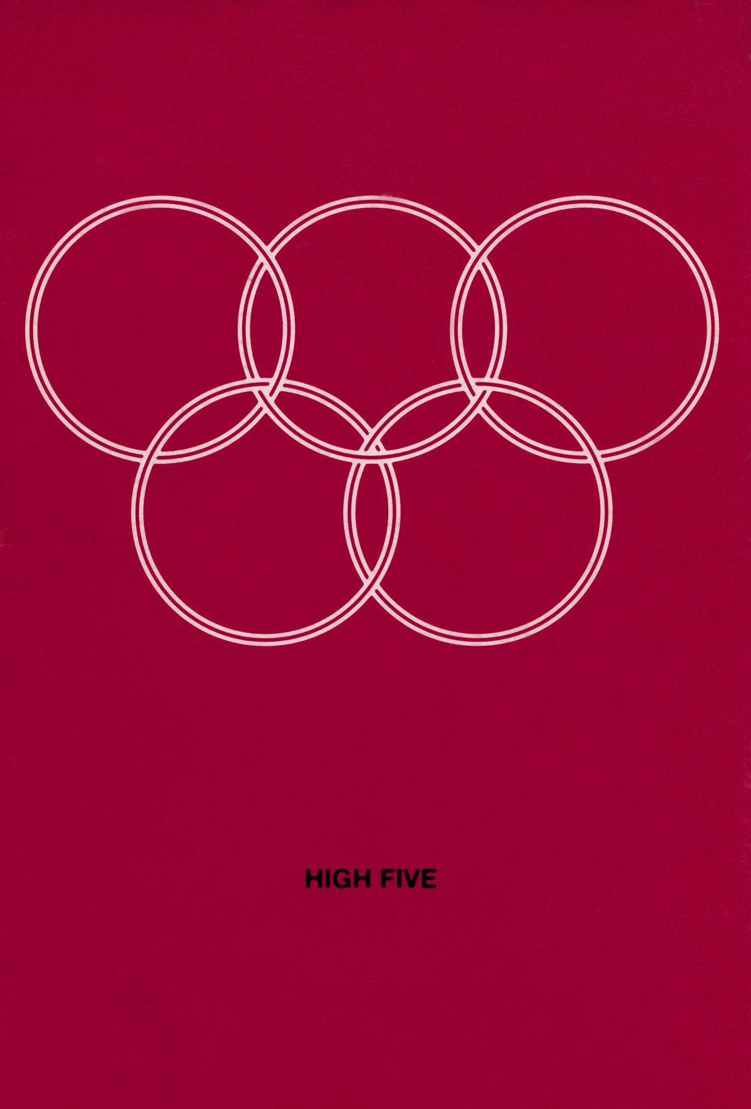 high five einladung rot vor